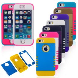 Wholesale Pour Iphone Cases Design unique points Robot couverture PC étanche Housse de protection en silicone pour Iphone S C Plus