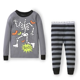 Wholesale Cheap Childrens Clothes Wholesale - Wholesale-Funny unique gift skeleton skull childrens wear clothes for cheap baby suits set for boys and girls