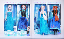 Christmas Gift Musical Frozen Doll DIY Doll Music Frozen Toys Sing Anna and Elsa Princess Frozen Toy gifts for girls Free Shipping