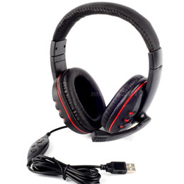 PRO USB Stereo Headphone Microphone with MIC GAME Gaming Headset For PlayStation PS3 PS 3 PC Gaming Headphones