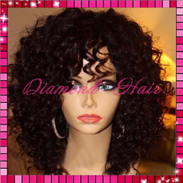 8A Best Virgin Brazilian Kinky Curly Full Lace Wig With Baby Hair Glueless Full Lace Kinky Curly Human Hair Wigs For Black Women