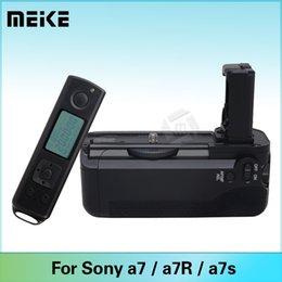 A7r sony en Línea-Meike MK-AR7 apretón de la batería vertical para Sony A7 A7r A7s con 2.4G de control remoto inalámbrico