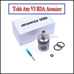 Mejor rba en Línea-Cigarrillos Tobh Lcdo V3 Mejor RDA Aomizer RBA Clearomizer electrónicos innovadores 28mm Clone 26650 Lic V3 para Hades Panzer Mod Stingray Mod
