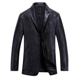 Wholesale Fall HOT brand new leather jacket men casual leather zipper locomotive disabilities jaqueta de couro masculina