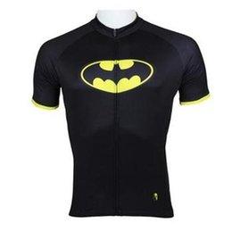 Acheter en ligne Cuissard vente-Vente chaude 2015 Superheroes Batman Mens manches courtes vêtements maillots cyclistes de vélo Rider Vêtements S-3XL Tenues de cyclisme