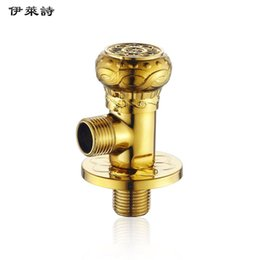 Wholesale Eli whole poem antique golden triangle valve thickened copper hot water heater toilet universal character Angle Valve