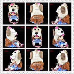 Free Shipping Christmas Dog Crochet Knitted Hat Newborn Handmade Knitting Headwear Infant Toddler Cap Baby Girls Hat Children Beanie Cotton