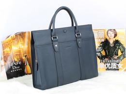 Wholesale High quality genuine leather handbag briefcase B bag computer bag