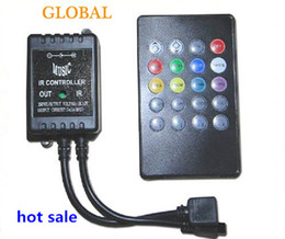 Practical DC12V RGB LED Music IR Controller 20 key infrared music LED ir controller the advanced control unit for RGB 3528 5050 led strip