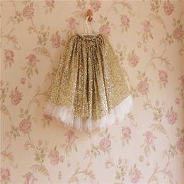 Faldas para las muchachas de los niños en venta-Forme a nuevas faldas del tutú de los cequis de las muchachas La nueva falda de la princesa de los niños embroma la falda A5171 del tutú de Tulle de las muchachas de las faldas de la fiesta de días festivos