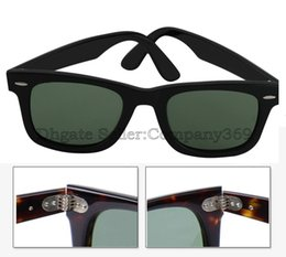 Wholesale Best Quality Metal Hinge Brand Sunglass Black Frame green len Men Women Fashion Sunglass UV400 Lens mm With Brown Box