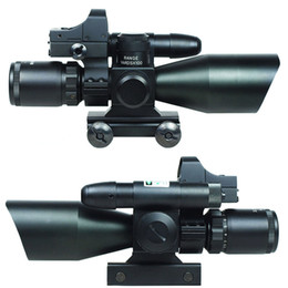 2.5-10X40 Tactical Rifle Scope w  Green Laser & Mini Reflex 3 MOA Red Dot Sight