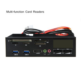 Wholesale Professional Card Reader quot USB e SATA All in PC Media Dashboard Multi function Front Panel I O Ports C1961