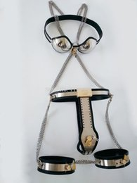 Stainless steel Bra clothes chastity belt Thigh ring,Female chastity Kit,fetish sexy toys,sex products for couples,sexo game