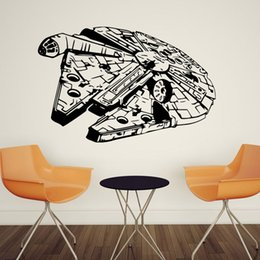 Wholesale Crystal Sticker Decals - 88 * 57cm QT026 Star Wars Figures Carved Living Room Bedroom Wall Sticker Decorative PVC Stickers Removable Waterproof