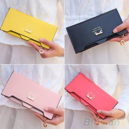 Women's Mini Wallet Cute Handbag Faux Leather Bowknot Clutch Long Card Purse 1PB5