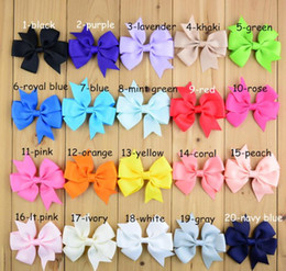 564 Fashion 3 inch Baby Girl Grosgrain Ribbon Hair Bows Children Hair Accessories Baby Hairbows Girl Hair Bows WITH CLIP