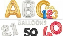 Wholesale Good News Gold Silver Alphabet Helium Aluminum Foil Balloon Letters Wedding Christmas Birthday Baby Shower Party Decoration Supplies