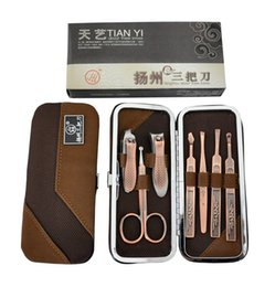 Wholesale Tianyi knife antique copper nail art set tools piece set nail clipper nipper
