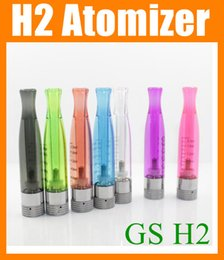 Wholesale New GS H2 Clearomizer atomizer E Cigarette GS H2 Atomizer Replace CE4 ce5 ce6 dct Cartomizer all For eGo batter series colors AT019