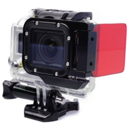 wholesale Red color Underwater (10-20m) Sea Dive Color Filter Flip Filter Only For Camera Go pro HERO3 New,Gopro accessories