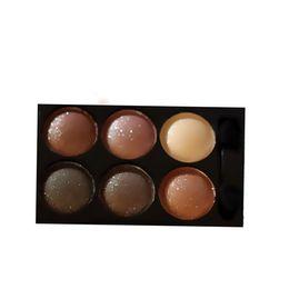 Wholesale-1Pcs 6 Colors Professional Smoky Cosmetic Set Natural Matte Eyeshadow Makeup Eye Shadow Palette Eyeshadow Glitter