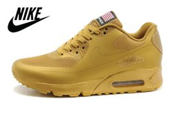 Wholesale Nike Air Max HYP QS USA flag Men Running Shoes Hot sell American independence Day nike factory outlet Hyperfuse sneaker for men Eur40