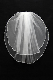 2017 el envío más barato 3,99 $ más barato Velos de novia envío libre 2016 de marfil blanco boda Velos de yema del dedo velo con los granos y lentejuelas velos de novia Para CPA034 económico el envío más barato