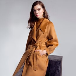 Free shipping 2017 high quality Water corrugated 100% wool coat genuine fleece woolen Coat worth buying