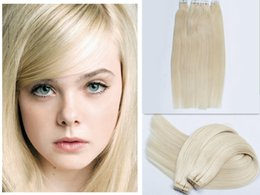 Tape in Hair Extensions 40pcs 16-24inch 60# 100g Straight Indian Remy Hair Weaves Skin Weft 100% Human Hair Extensions