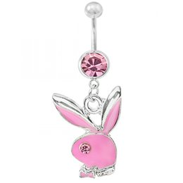 Wholesale Factory Medical Network navel ring navel buckle navel nail earrings rabbit homegrown Valentine s Day Gift