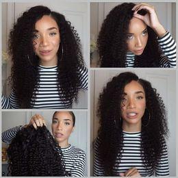 18 black hair en Ligne-Malaisie Kinky Curly Perruques 7A dentelle pleine perruques de cheveux humains pour les femmes noires sans colle perruques de lacet