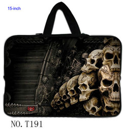 Wholesale Classic Skull Cute quot Inch quot quot quot Laptop Netbook Neoprene Sleeve Bag Case handle