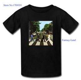 Wholesale Fantasy Land The Beatles Abbey Road Printed Men s Casual Cotton Short T Shirt