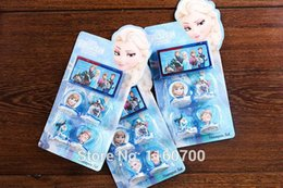 Wholesale Children s cartoon stationery stamper set frozen princess elsa anna olaf sven seal stamp funny gift