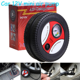 Wholesale Car Styling Inflatable Pump V PSI Mini Portable Balls Rubber Boat Bike Car Air Compressor Tire Electric Inflater Auto Pumps