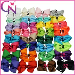 Wholesale All in Stock Colors inch Plain Colored Grosgrain Ribbon Boutique Hair Bows with Alligator Clips