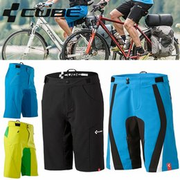 Wholesale Cycling Shorts MTB Road Men Cycling Loose Shorts Mountain Bike Bicycle Leisure Baggy Shorts Clothing Yellow blue black