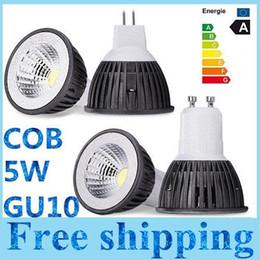 Brand New COB 5W conduit ampoules lumière GU10 E27 E26 MR16 Dimmable conduit spots blanc chaud / froid 110-240V 12V + CE ROHS CSA approuvé à partir de mr16 blanc chaud torchis 5w fabricateur