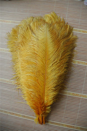 Wholesale 100 pcs 16-18inch Gold ostrich feather plume for wedding centerpiece party event decor festive supply decor