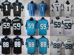 Wholesale Nike NFL Mens Carolina Panthers Jerseys Cam Newton Luke Kuechly Greg Olsen Kelvin Benjamin Elite American Football Jersey