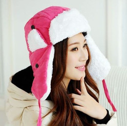 Wholesale new women winter hat with earflaps ski bomber Hat Outdoor snow ear flaps cap aviator hat
