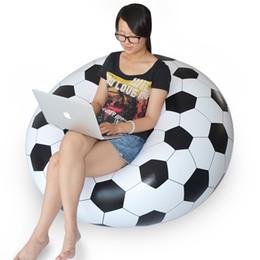 Wholesale New Inflatable Sofa Adult Football Self Bean Bag Chair Portable Outdoor Garden Corner Sofa Living Room Furniture JF0002 Salebags
