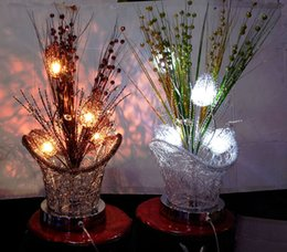Wholesale creative new design indoor table aluminum lamp new fashion desgin crystal lighting bulbs led lighting color change automatic