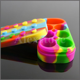 Wholesale 6 Nonstick Wax Containers silicone Lego big rubber can Silicon container wax jars dab storage dabber jar bho oil vape FDA approved DHL