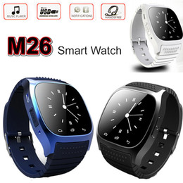 Wholesale Smart Watch M26 Bluetooth Waterproof Smartwatch LED Display Sports Wrist Watches Pedometer Alitmeter Snyc for iOS Android Smartphone U8