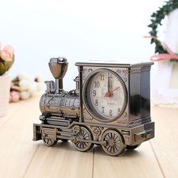 Wholesale Vintage Train Engine Creative Locomotive shaped Standing Mini Aarm clock Wonderful Toy Unique Design H020