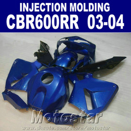 Injection Mold body parts for HONDA CBR 600RR fairing 2003 2004 cbr600rr 03 04 motorcycle Dark blue fairings BVFW