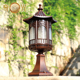 Wholesale Wall lights outdoor post lights headlights Ming retro vintage die cast aluminum waterproof W12715