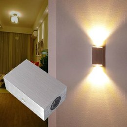 Wholesale Modern W Up Down led wall light AC85 V Wall Lamps restroom bathroom bedroom Hall Room reading wall lamp decoration light
